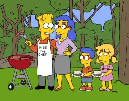Unnamed Adult Bart Simpson Lookalike and Family by rocketdave