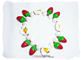 Strawberry Blossoms Bracelet by Cateaclysmic