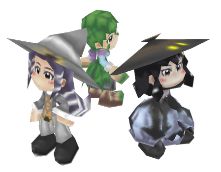 MC - Super Low-Poly Witch Trio by Minon