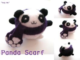 Panda Scarf Plushie by Mechashinobi-X