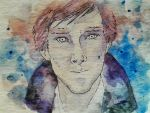 WIP Watercolor Cumberbatch by DasMoo