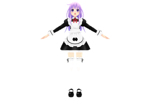 Hyperdimension Neptunia V, Nepgear Maid by xXNekochanofDoomXx