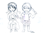 Heliogabalus and Commodus ~ Chibis by blackAunty
