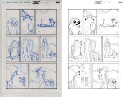 ADVENTURE TIME ANNUAL pencil to ink 3 by dfridolfs