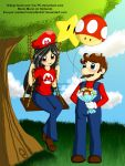 :Comision: Eva y Mario by Vixi-PC