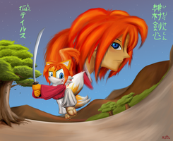 Tails the other battousai by GaussianCat