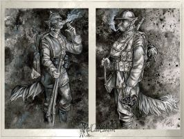 Anthro: WWI ink by redcoatcat
