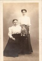 Vintage Ladies with cat by Irie-Stock