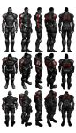 Mass Effect 3, Male Shepard N7 Armour Reference. by Troodon80