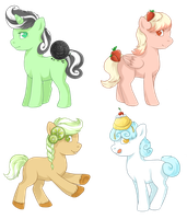 Sweet Pony Adoptables [80 points each] by PixelatedV