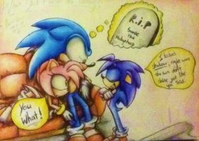 Sonic is dead - Colour pencil by MissTangshan95