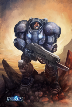 Raynor for Heroes of the Storm Fan Art Contest by N8watcher