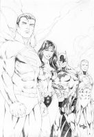 justice league of america by leonartgondim