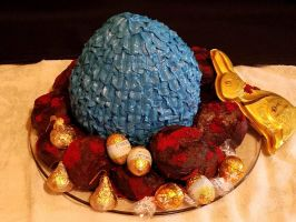 Dragon egg cake 2 by sokesamurai