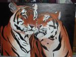 Two Tigers by DeepPhantasmagor