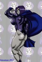 Raven buffed up 3Raven legs Powerhouse level Color by biesiuss