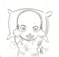Megamind - Mini M hug (sketch) by Arika27