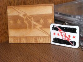 CM Punk: engraving and necklace by Redzs00