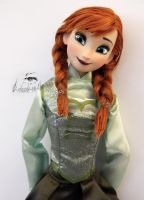 Disney Anna Doll Repaint | Green Dress #2 by claude-on-the-road