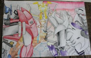 Optimus and Megatron AP Lit Project by OPGirl106