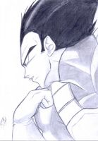 The Prince is Plotting -Vegeta by SlimeKingKtW
