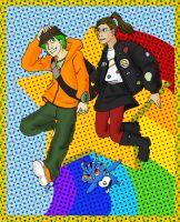 DW:PR: Ace and Trip RAINBOWS by galaxyofgover