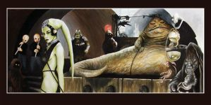 Star Wars Jabba's throne Room by Tim Proctor by Def-Force