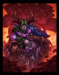 Tyrande and Malfurion by Tonywash