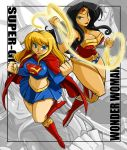 Gimpy Comm Wonder Woman and Super Girl by ShoNuff44
