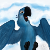 Blu the Macaw by fabman132
