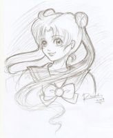 Sailor Moon - A Quick Sketch by Risuchia