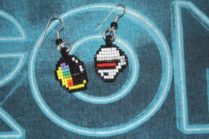 Daft Punk Earrings by purpleyoshi1