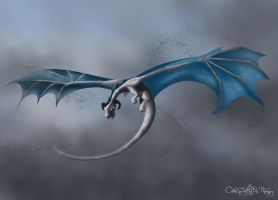 Blue-gray dragon by aiduqui