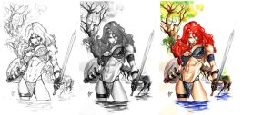 Red Sonja commission by airold