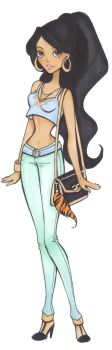 Disney highschool: Jasmine by Nina-D-Lux