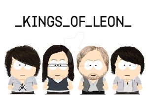 South Park Kings Of Leon by lord-nightbreed