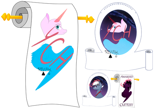 Mlp Ych Scroll or banner by renathesnakecharmers