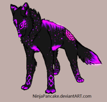 Custom Wolf Adoptable for NikkiWoolf by TheFireGypsy