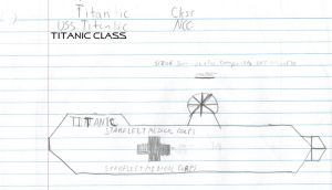 Titanic Class Paper Drawing by kaisernathan1701