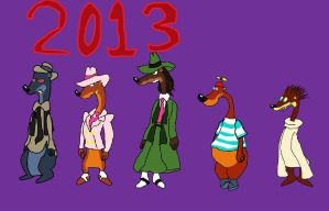 Toon Patrol Drawing with Purple Background 2013 by Elzathehedgehog