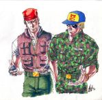 KOF - Ralf and Clark by Substance20