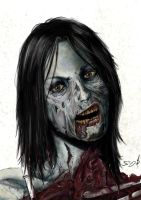 Living Dead Girl by SamDenmarkArt