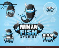 Ninja Fish Logo Design by BrainyArmy