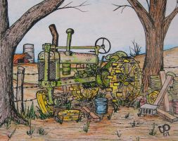 RUSTY TRACTOR by uncledave