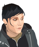 Frank Iero Vector by KellyPony