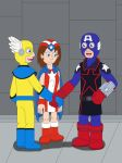 American Soldier, Whizzer and Miss America by MCsaurus