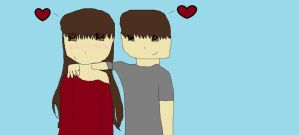 .:me and my bf:. by Lizy-Chan