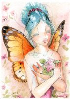 ACEO - Rose fairy by sanguigna