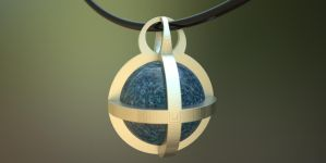 Pendant Sphere 3D Print on Shapeways by nic022