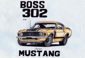 AT: Ford Boss Mustang 302 by Night-traveller